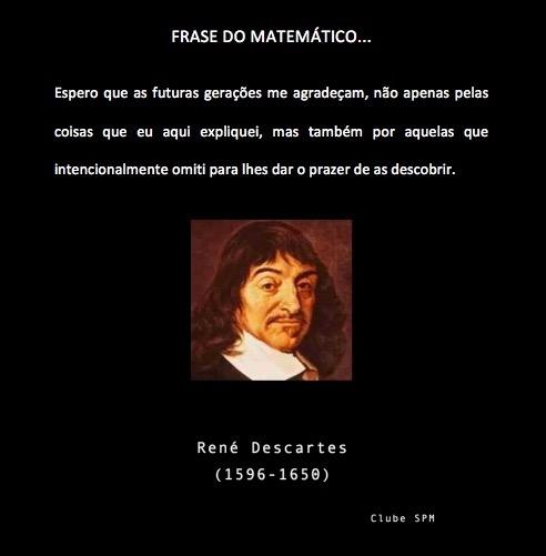 Frase Do Matemático Francês René Descartes Sobre As Futuras